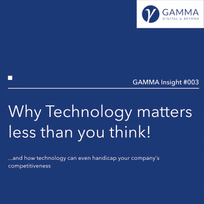 Why Technology Matters Less Than you Think! - GAMMA Insight #003