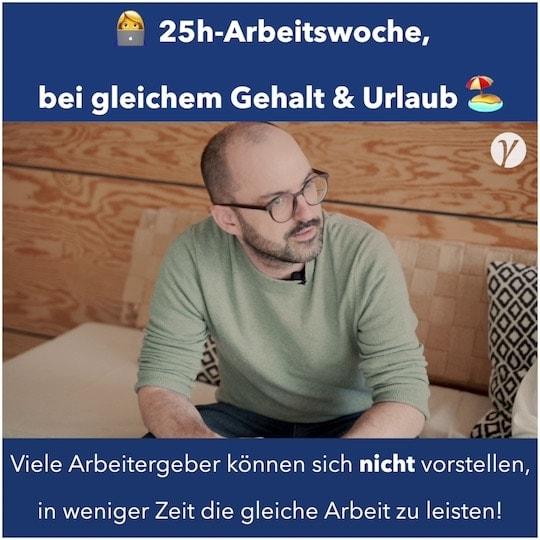 Interview: Die 25 Stunden Arbeitswoche, bei gleichem Gehalt und Urlaub mit Lasse Rheingans